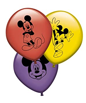 Verbetena, 014000617, pack 8 globos Mickey Mouse, Disney ...