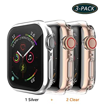 Jvchengxi Funda Protectora para Apple Watch Series 4/Series 5 40mm, Cubierta Protectora de Marco TPU Protector Pantalla de Cobertura Total para Apple ...