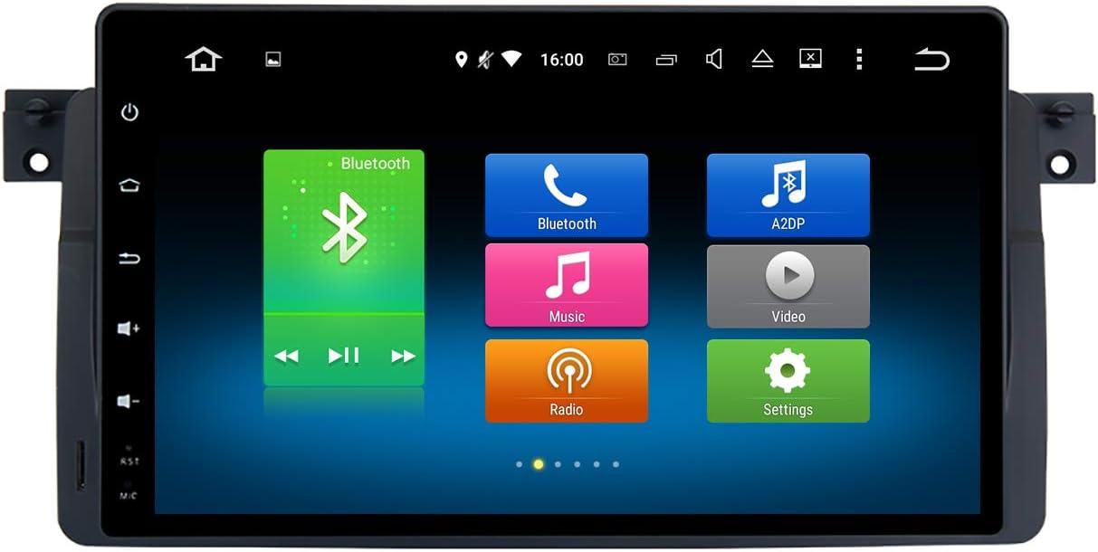 "Dasaita 9"" Android 9.0 Car Radio Stereo for BMW 3 Series E46 M3 318i 320i 325i 2001 2002 2003 Bluetooth Car Audio GPS Navigation Multimedia Music Video Player Octa Core 4G 32G PX5"
