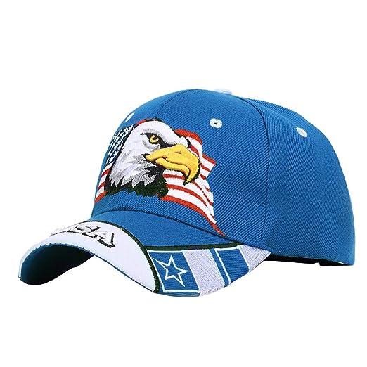 KINTRADE Unisex Bandera Americana patriótica Gorra de béisbol de ...