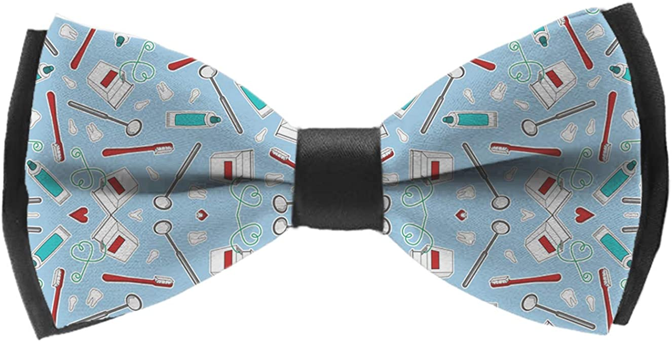 Classic Pre-Tied Polyester Formal Tuxedo Bowtie Necktie For Wedding Office
