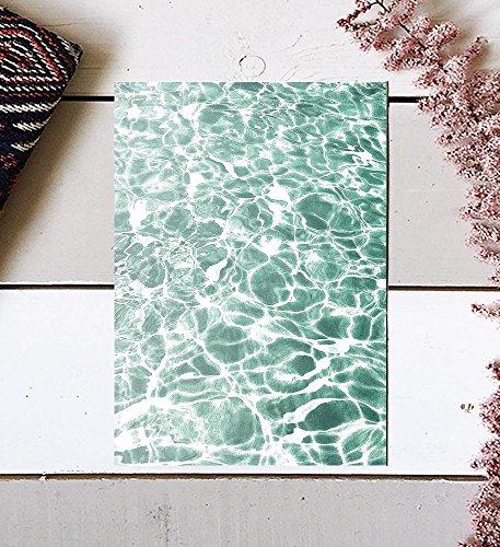 Pieces 8 Contemporary (Ocean Print, Wall Print, Art Print, Ocean Wave Print, Water Print, Wave Printable, Water Photography, Ocean Wall Art, Water Wall Art, Ocean Photography, Ocean Wave, Summer Print, Green Wall Art, 8x10)