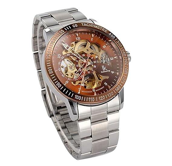 ibay wish gift IK-07 GZIE-07 - Reloj para hombres, correa de acero inoxidable color plateado: Amazon.es: Relojes