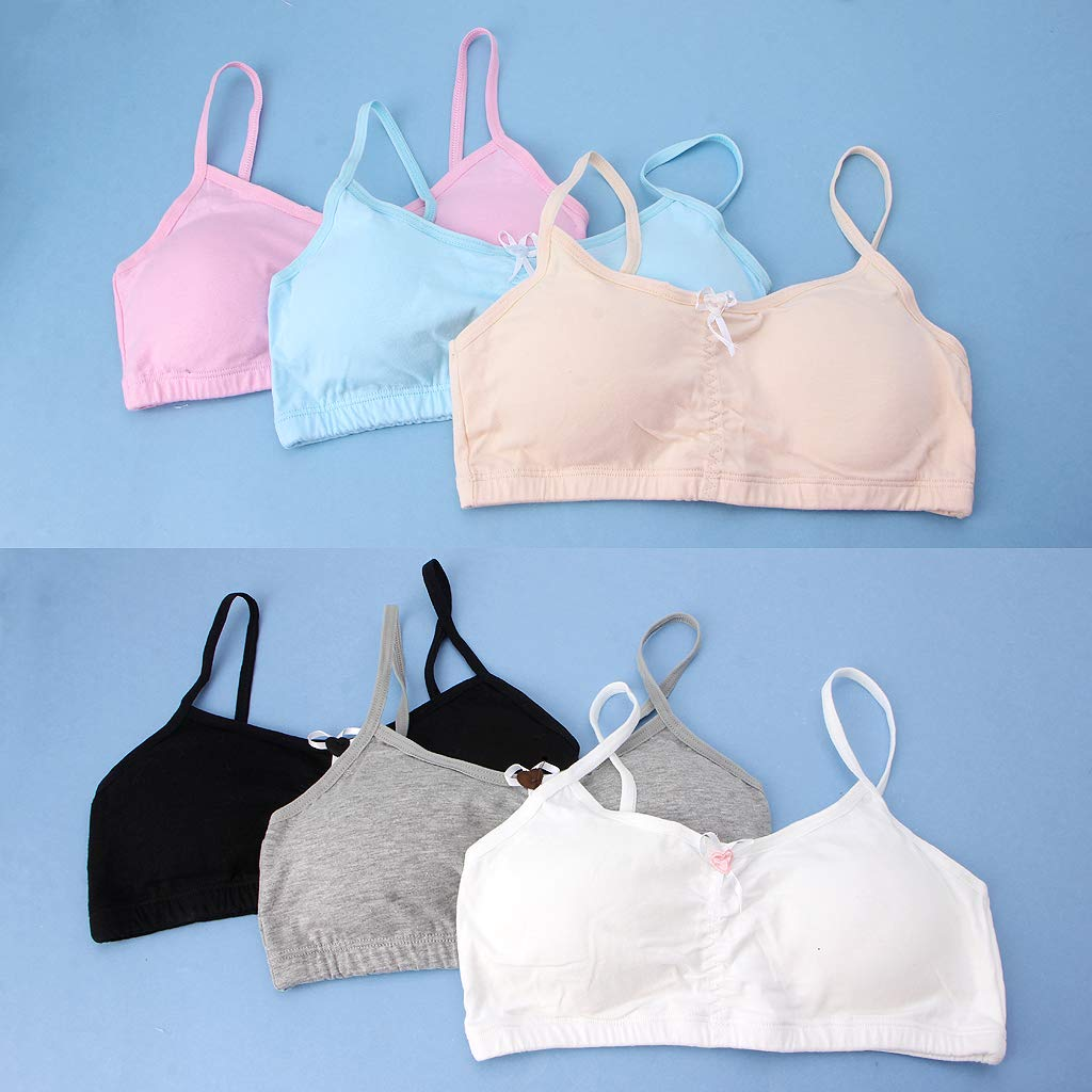 Longsw Teenage Girl Underwear Puberty Young Girls Bras Teen Training Bra Undergarments