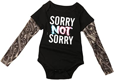 Digood For 0-18 Months Baby Infant Newborn Baby Boys Girls Letter Jumpsuit Romper Headband Outfits Clothes Set