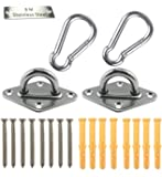 Heavy Duty Hammock Hanging Kit Pad Eye Plates Staple Ring Hook,Ceiling Wall Mount Anchor Hooks Hanger for Swing Chair…