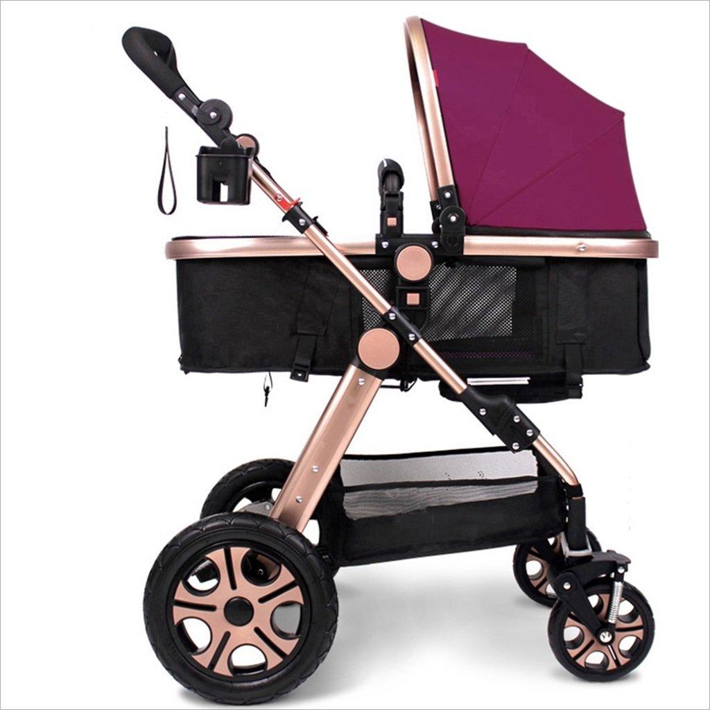 新生児の赤ちゃんキャリッジ折りたたみ可能な座って、1ヶ月のためのダンピングの赤ちゃんカートに落ちることができます 3歳の赤ちゃんの双方向四輪ベビートロリーを振るのを避ける (色 : C) B07DV94P3T C C
