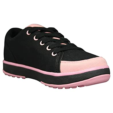 save off b08d6 29cf2 DAWGS Womens Crossover Golf Shoes - Black with Soft Pink