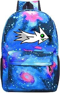Star School Bag Geometry Ship Dash Fashion Satchel Galaxy Backpack for Student Kids Boys Girls