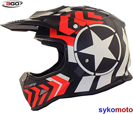 Amazon.es: 3GO X15 NIÑOS RAYAS ESTRELLA MOTO BICICLETA MOTOCROSS ...