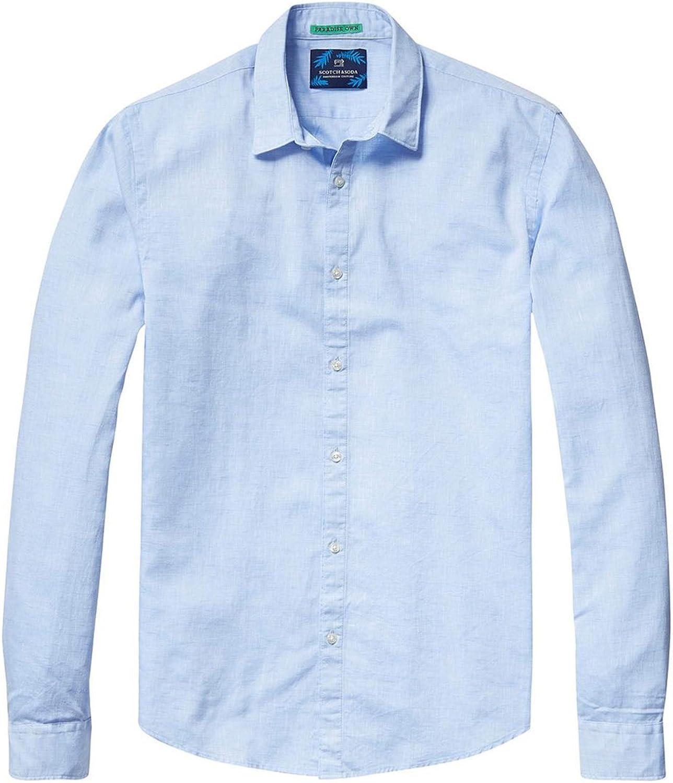 Scotch /& Soda Mens Longsleeve Shirt in Crispy Cotton Quality