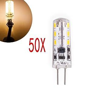 50 unidades 2 W Bombilla LED con casquillo de patillas G4 12 V AC/DC