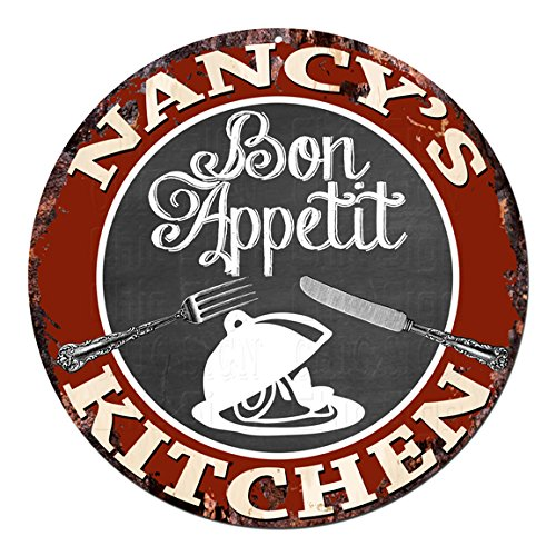 Cheap Bon Appetit NANCY'S KITCHEN Chic Tin Sign Rustic Shabby Vintage style Retro Pub Coffee Shop Home Kitchen Decor Gift Ideas