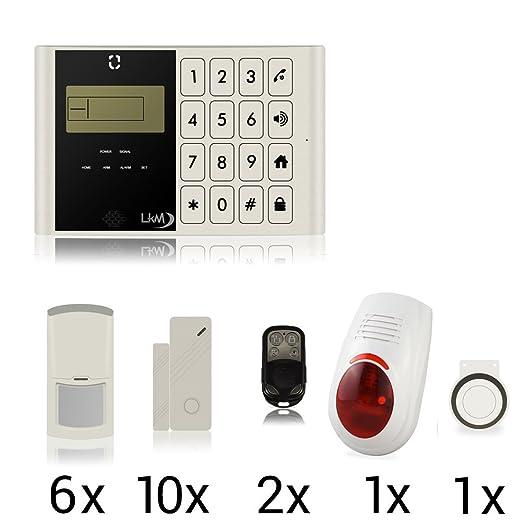 12 opinioni per LKM Security Kit Antifurto Senza Fili Allarme Casa Combinatore Gsm Wireless con