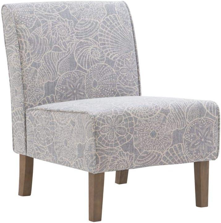 Linon Stone Grey Slipper Lily Chair