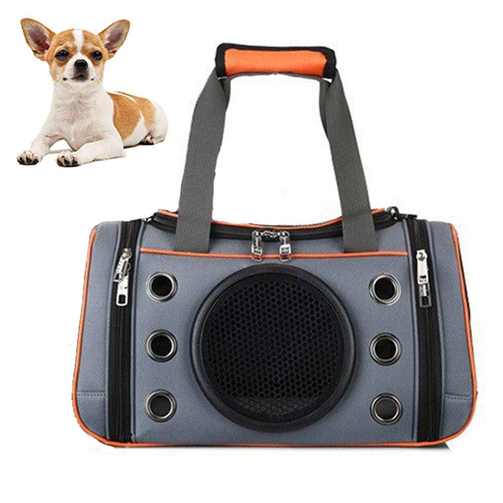 orange Large orange Large Pet Carrier, Travel Bag for Puppy Dogs Cats, Airline Approved, Space Capsule,orange,L