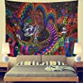 Leofanger Starry Night Tapestry Wall Tapestry Wall Hanging Hippie Galaxy Tapestry Mandala Bohemian Tapestry Watercolor Oil Painting Tapestry Wall Decor for Bedroom