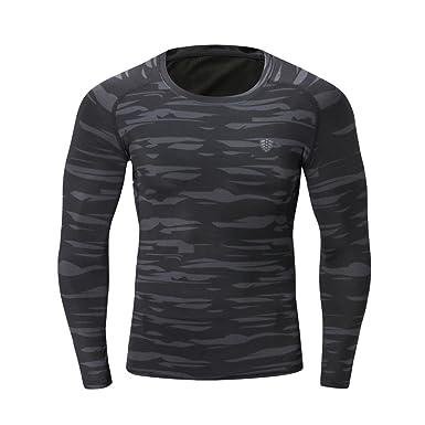 Paymenow Men Long Sleeve T Shirt Baselayer Dry Sports Shirts Top