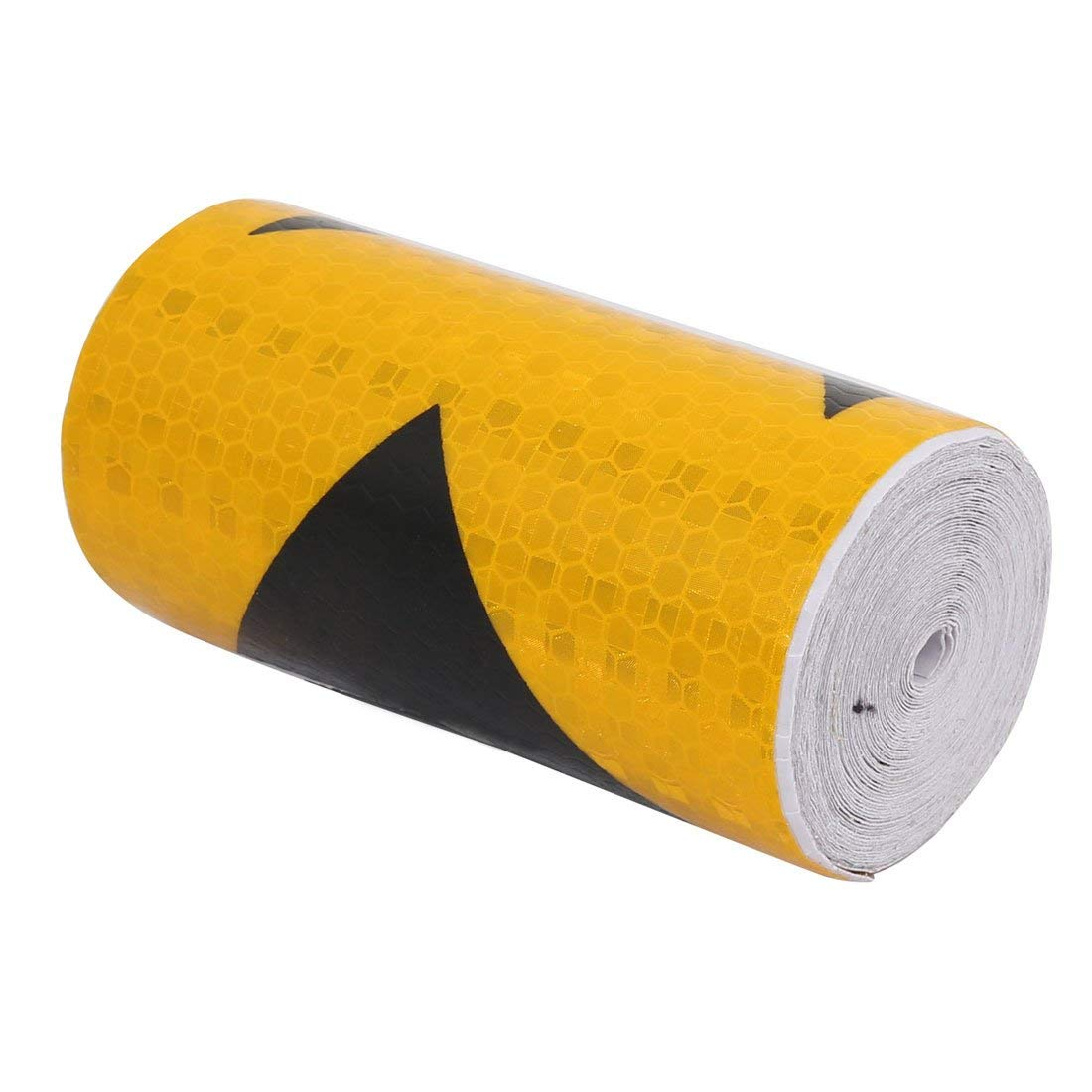 Honeycomb Reflective Warning Tape Yellow Black 10cm Width 6m Length Miki&Co