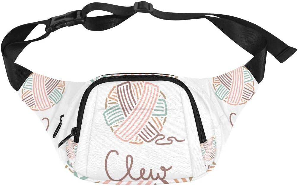 Colorful Wool Yarn Ball Fenny Packs Waist Bags Adjustable Belt Waterproof Nylon Travel Running Sport Vacation Party For Men Women Boys Girls Kids