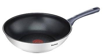 Tefal Daily Cook - Wok de 28 cm, antiadherente de acero inoxidable, para todo
