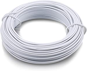 KINGLAKE 66 Feet White Sturdy Plastic Coated Garden Wire 2mm Plant Twist Tie