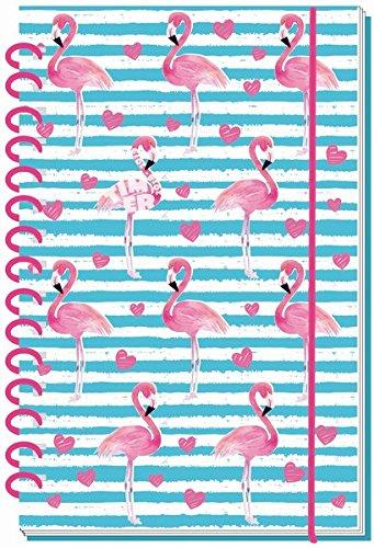 Schülerkalender Flamingo 18/19 - Schulplaner, Schülerplaner: Timer mit Spiralbindung und Prägung