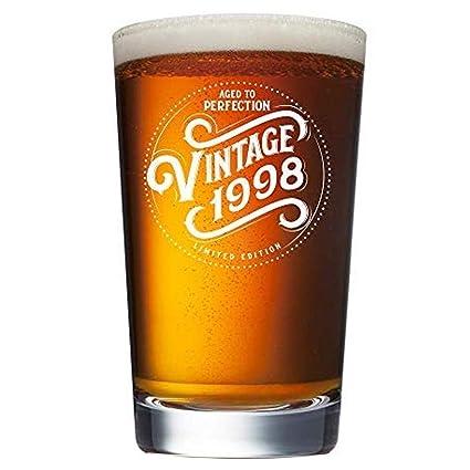 1998 21st Birthday Gifts For Men Women Beer Glass