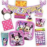 Disney Minnie Mouse Party Supplies Ultimate Set (108 Pieces) -- Party Favors,
