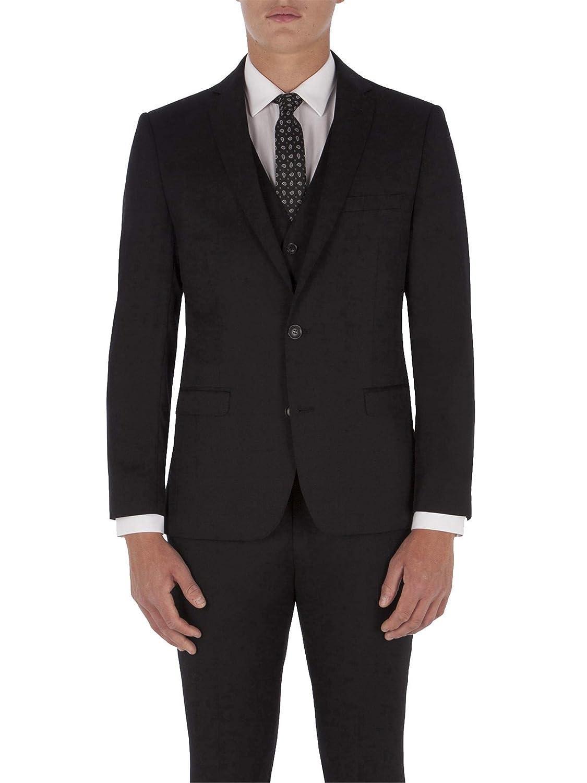 9a73b0661a3a5d Ben Sherman Jet Black Twill Camden Fit Jacket: Amazon.co.uk: Clothing