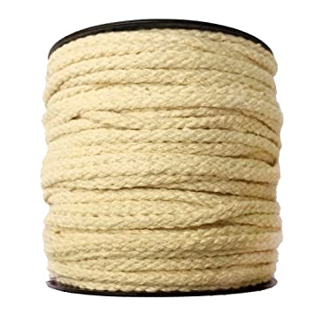 MagiDeal 50 Meters 100% Natural Cotton Rope Braided Twisted String Cord Twine Multi Craft Use (Clothes Sash Weaving Wrapping Knotting)
