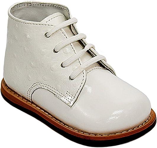 Josmo Baby Unisex Walking Shoes First Walker White, 3
