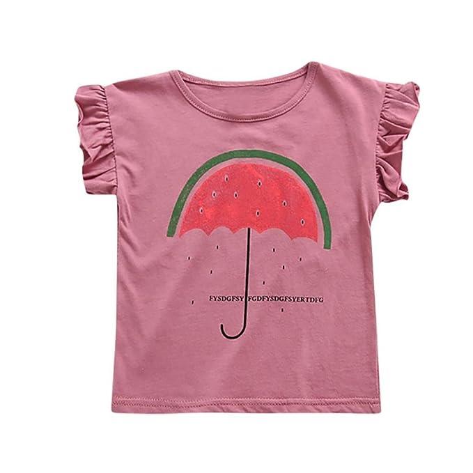 Amazon.com: moonker Kid bebés, niñas, verano frutas letra ...