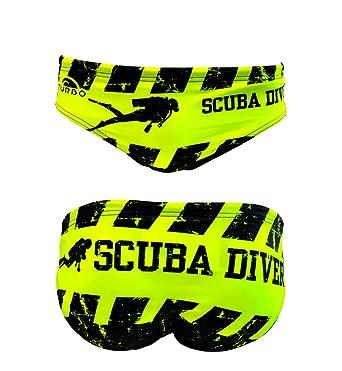 Turbo - Bañador Slip Scuba Diver de Waterpolo Competicion Natación y Triatlón Patrón de Ajuste cómodo