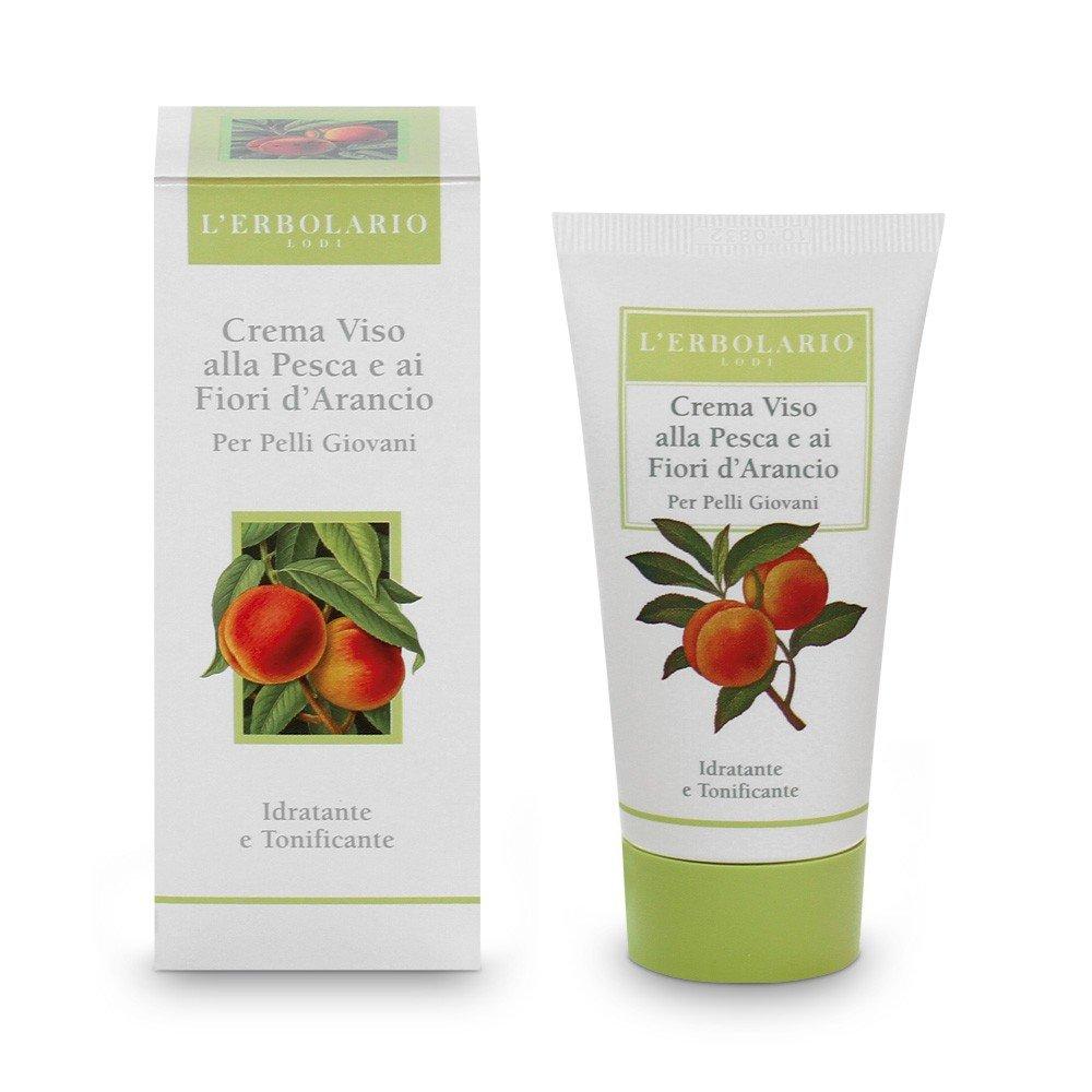L'Erbolario Crema per il viso con pesca e fiori d'arancio, 1 confezione (1x 50ml) L' Erbolario 011.288
