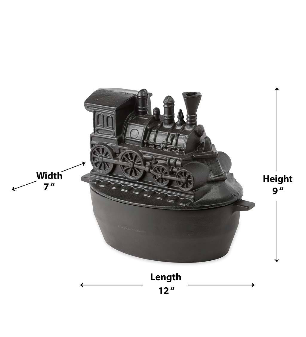 Nycrr Cast Iron Train: Train Wood Stove Steamer, Solid Cast Iron, Matte Black