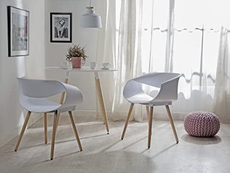 Sedie Da Cucina Bianche : Sedia da pranzo in plastica bianca design moderno charlotte