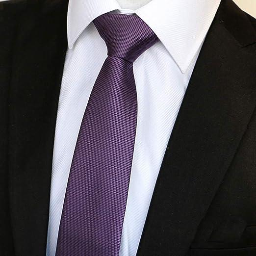 Yuany Poliéster Color sólido Corbata Traje y Corbata de Negocios ...