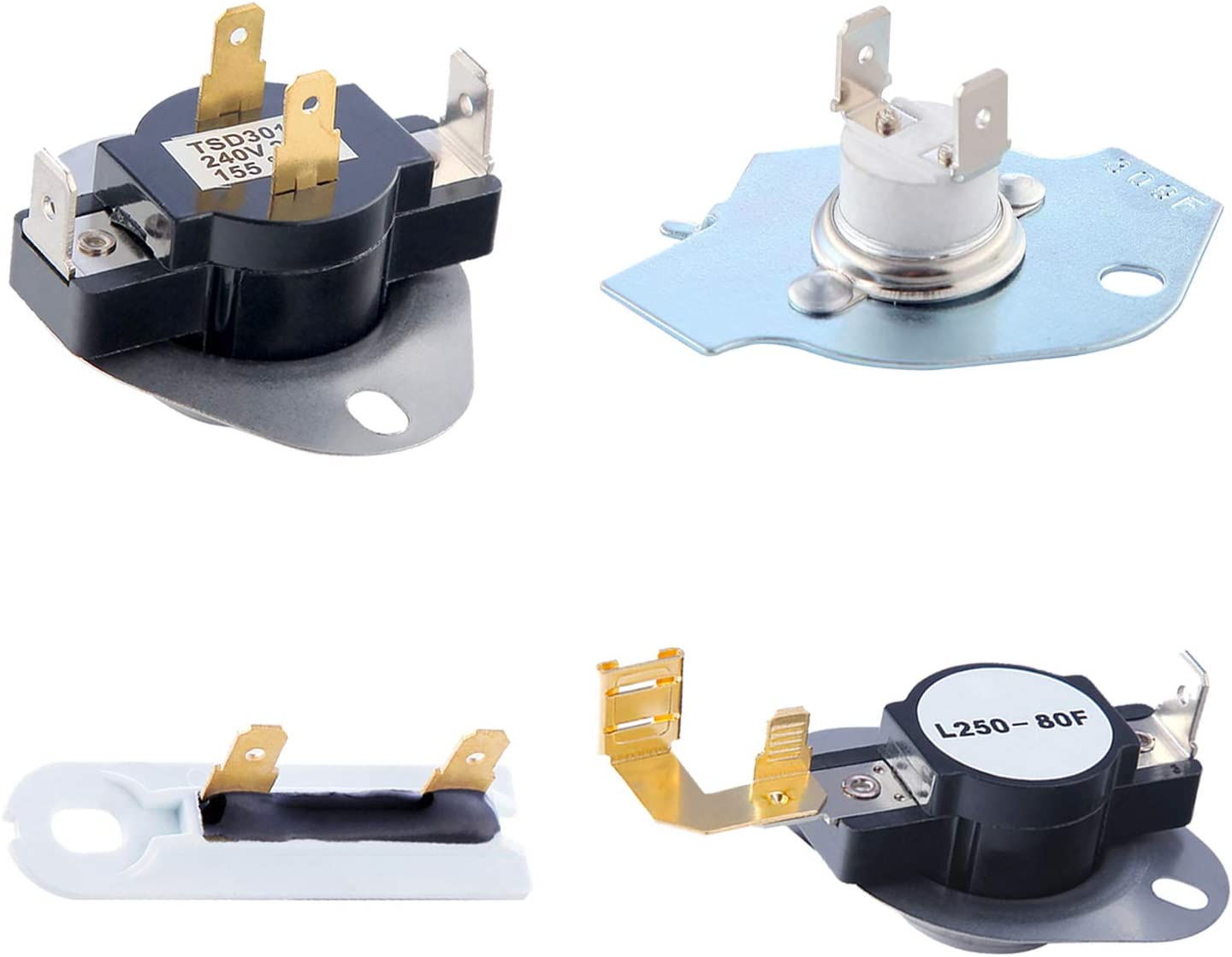 3387134 Cycling Thermostat 3977767 Dryer Thermostat 3977393 Thermal Fuse 3392519 Dryer Thermal Fuse Kit Exact Fit for Whirlpool & Kenmore Dryers, Figure 6 for More Models