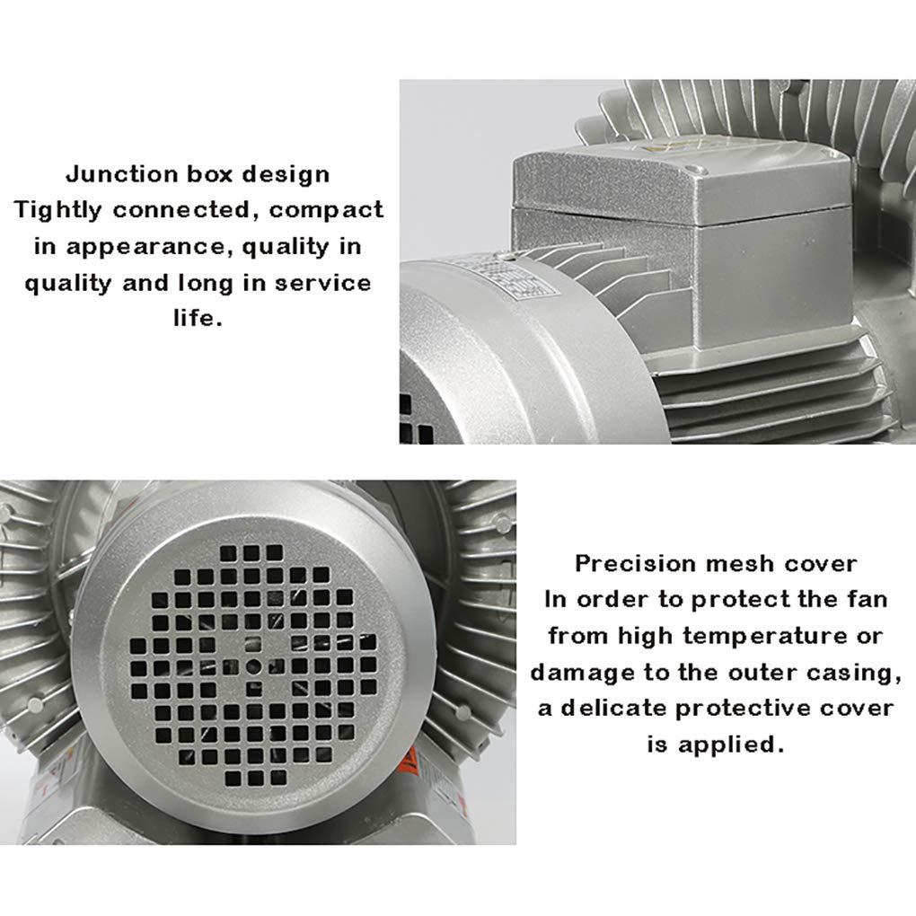 370W 250W Ventilador Centr/ífugo Ventilador Industrial V/órtice Bomba De Aire Potente Ventilador Aireador Estanque De Peces Bajo Ruido//Resistencia Al Desgaste//Alto Volumen De Aire