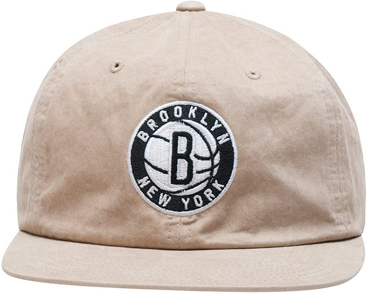 top fashion 37f52 6b924 Men s Brooklyn Nets Low Profile Self Fabric Adjustable Strapback Hat.  Mitchell   Ness ...