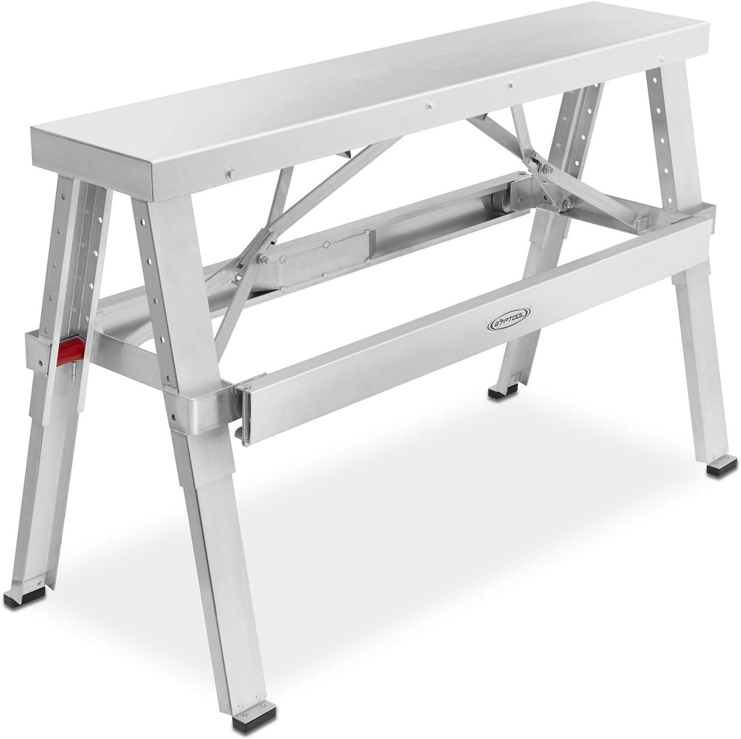 GypTool Adjustable Height Drywall Taping & Finishing Walk-Up Bench