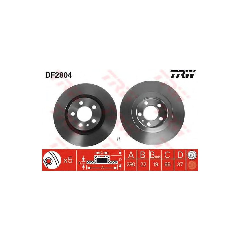 DF4276 2x Bremsscheibe Bremse TRW