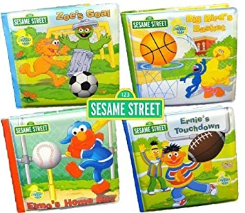 Sporty Elmo Bath Books  Set of 4 books. Amazon com  Sporty Elmo Bath Books  Set of 4 books   Toys   Games