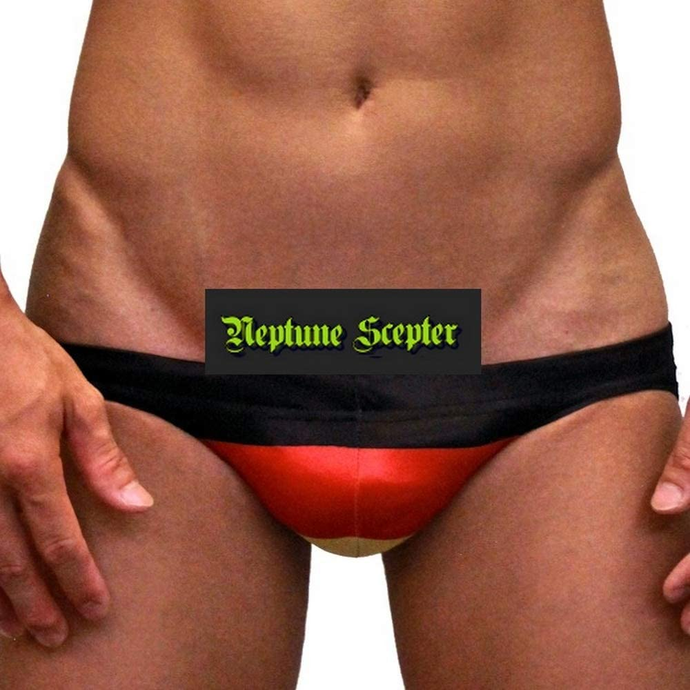 Neptune Scepter Men Sexy Contour Pouch, Low Rise, Swimming Briefs -National Flag