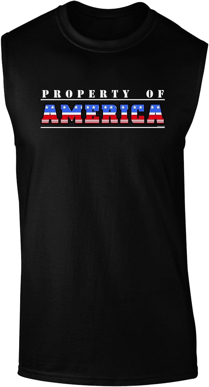 TooLoud Property of America Dark Muscle Shirt