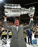 Mario Lemieux Pittsburgh Penguins 2017 Stanley Cup Trophy Photo (Size: 8
