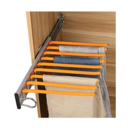 LUANT Closet Pants Hanger Bar Clothes Organizers For Space Saving And  Storage,18u0026quot; ...