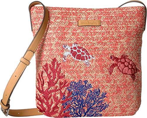 (Vera Bradley Women's Straw Crossbody Scarlet Coral One Size)