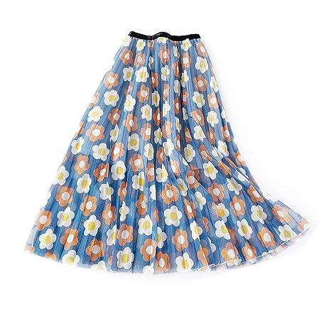 Owenqian Faldas de Mujer Plisadas Vintage Las Mujeres Imprimieron ...